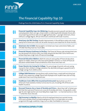 The Financial Capability Top 10