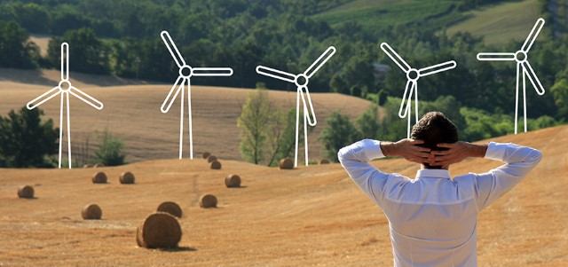Invest in wind energy stock photo