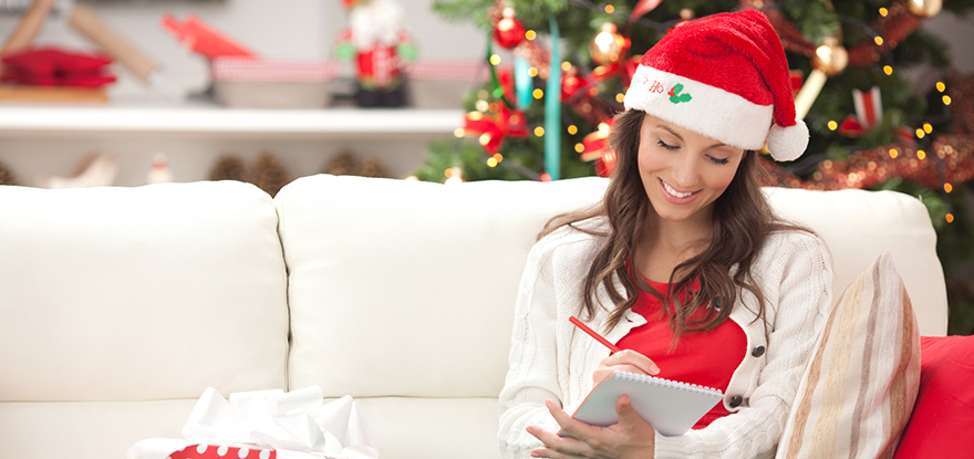 Woman Making Holiday List