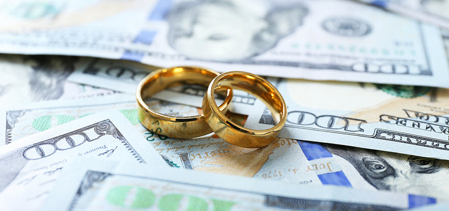 Wedding Rings on Money