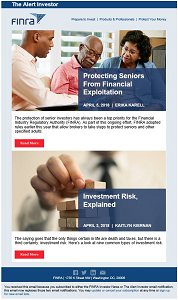 FINRA Alert Investor Newsletter Sample