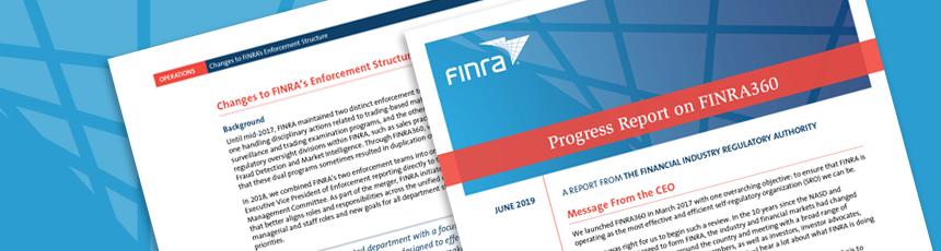 FINRA360 Report Header
