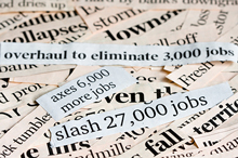Job Loss Collage of Newspaper Headlines
