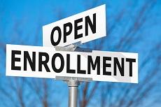 Open Enrollment Street Sign