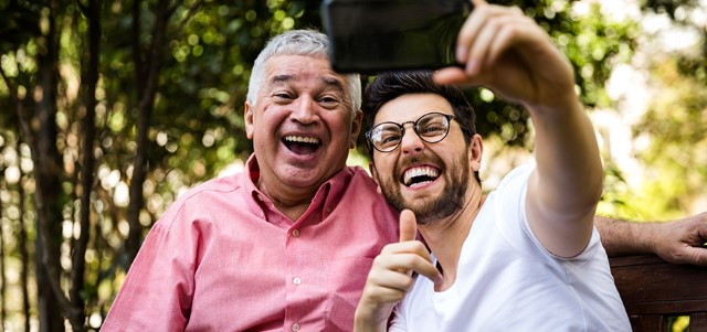 Dad-and-son-taking-selfie ©iStockphoto.com/filipefrazao