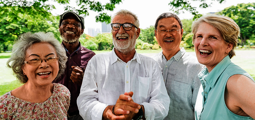 Group of Senior Retirement Friends Happiness