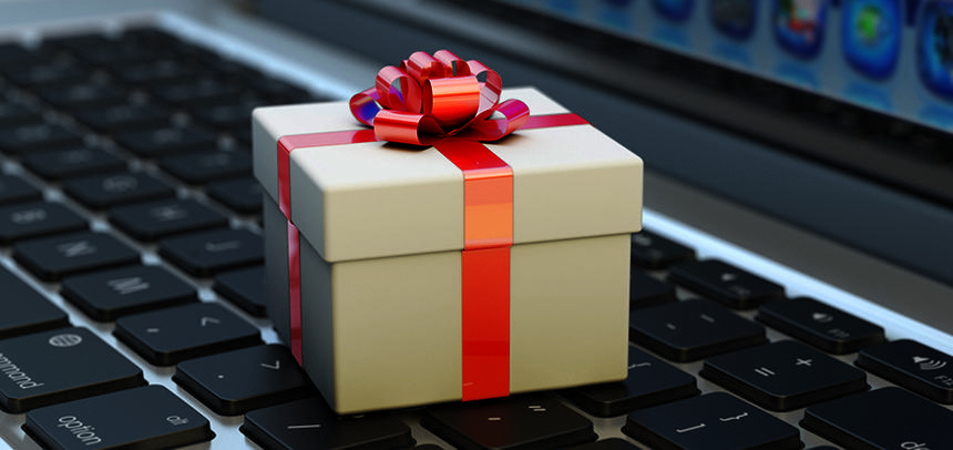 Small Gift on Keyboard