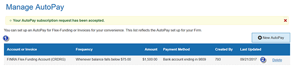 Delete AutoPay Subscription