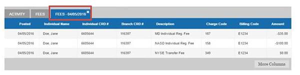 fee transaction