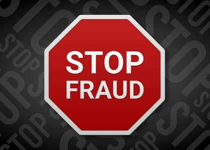 Stop fraud sign 3D illustration stock illustration